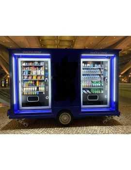Tienda Vending Movil en Remolque, 3 expendedoras reacondicionadas